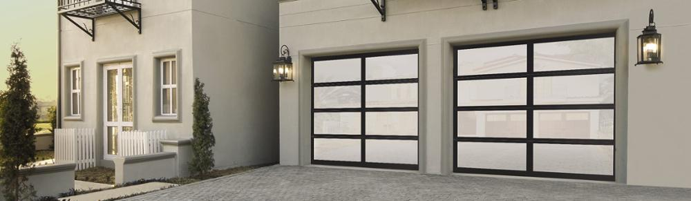 8x7 Automatic Aluminum Glass Garage Door for House or Villa