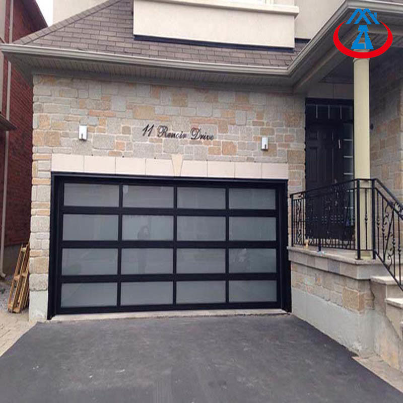 Sectional Overhead Residential Garage Glass Doors with Aluminum Frame