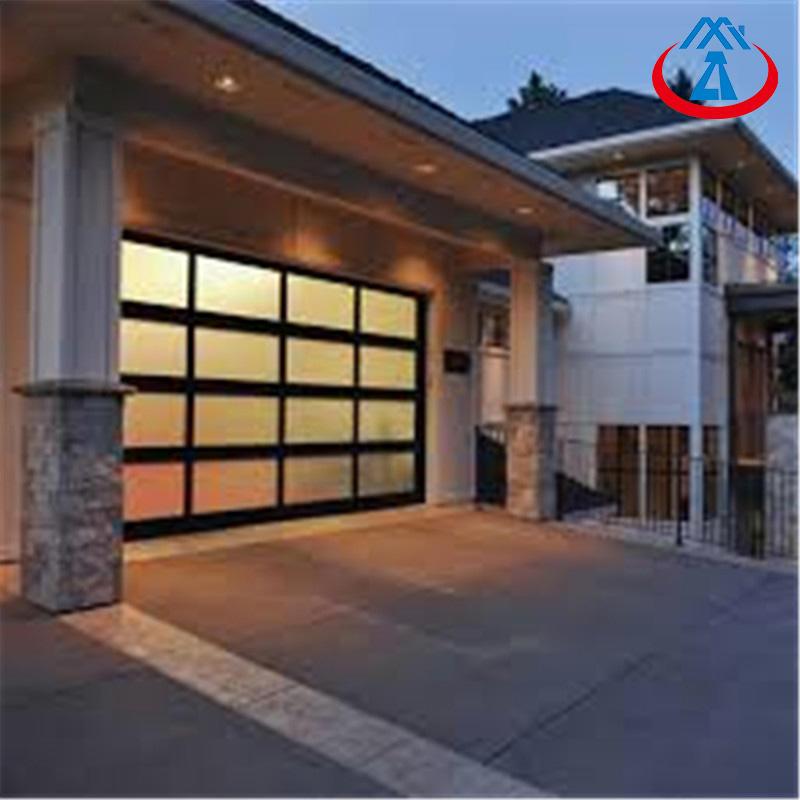 9*7 Black Color Aluminum Sectional Garage Door For Sale