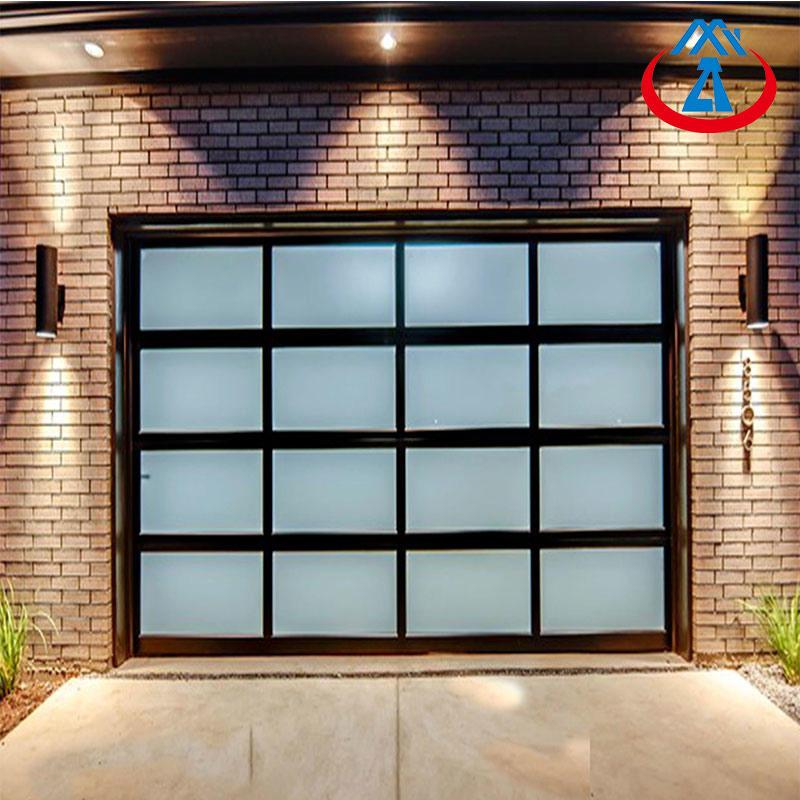 9*7 Tempered/FrostedGlass Overhead Aluminum Garage Door