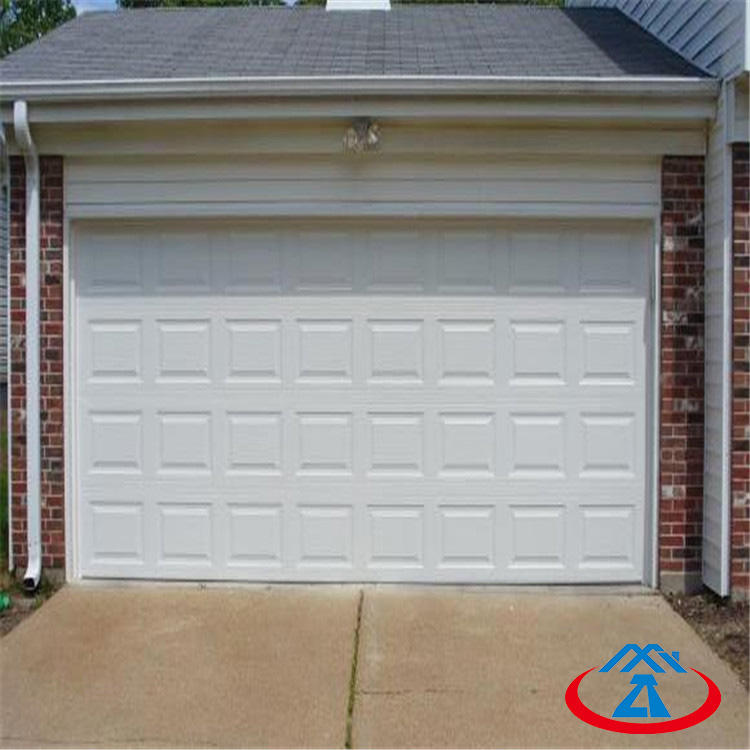 2.55W*2.65H Meter White Overhead Automatic Galvanized steel Sectional Roll up Garage Door With Motor