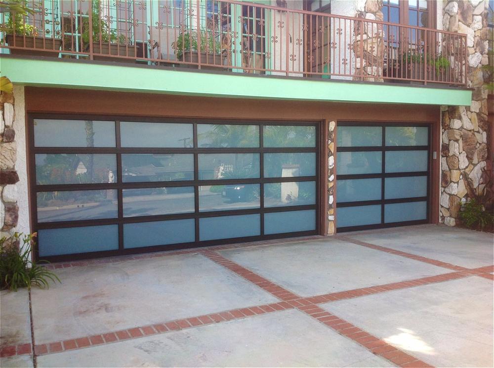 Modern Standard Size 9*8 Feet Aluminum Glass Garage Door For House