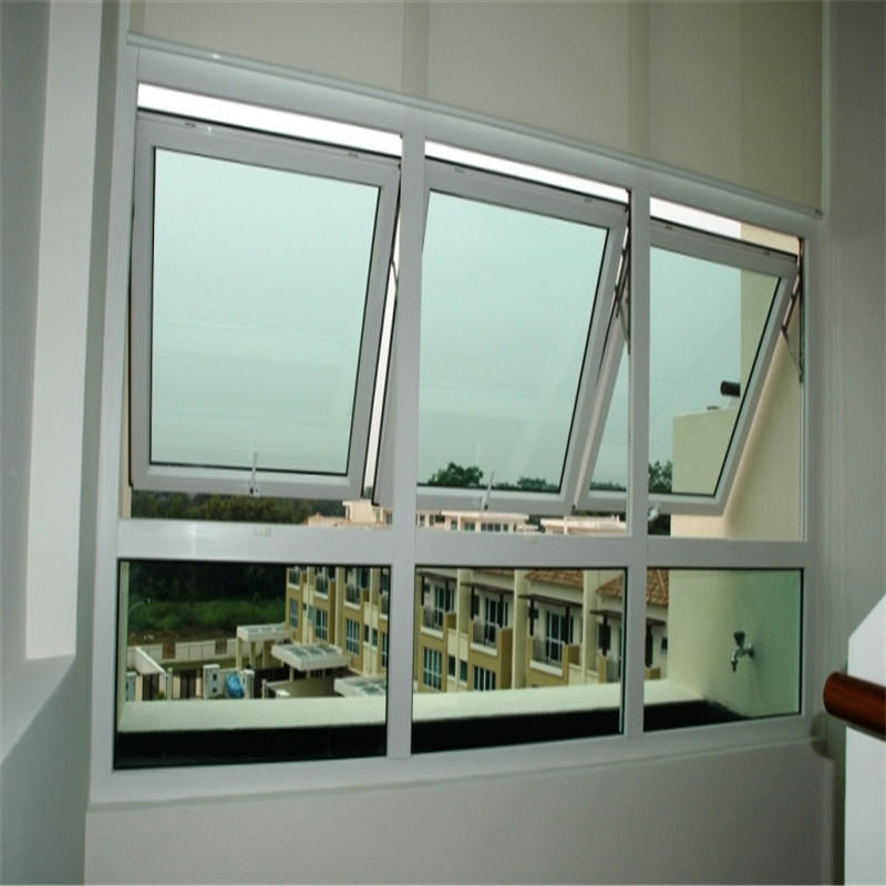 900*900mm Made in China Outward Aluminum Top Hung Glass Window