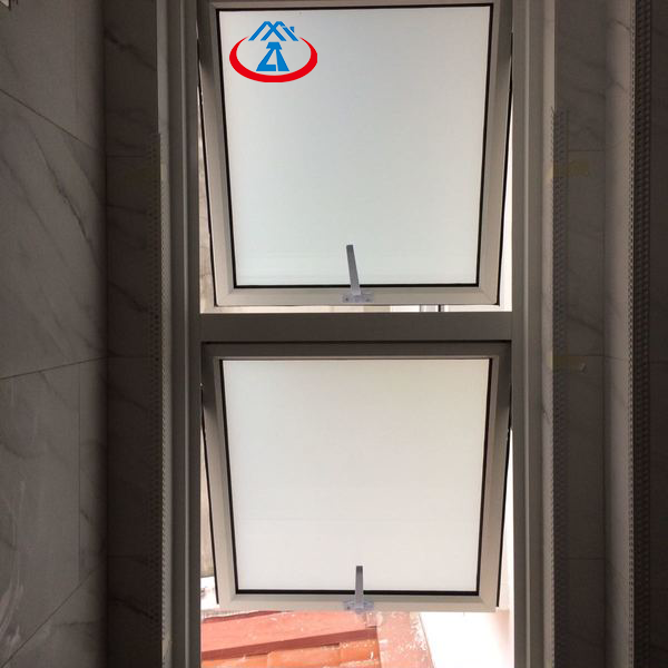 600*600MM Top Aluminum Single Ventilation Hung Glass Window