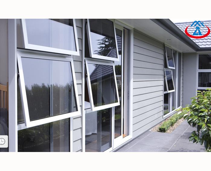 RTS High Quantity600*600MM Single Tempered Glass Aluminum Single Hung Window