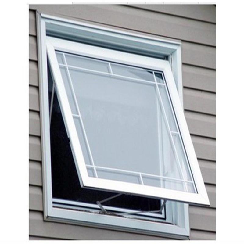 900*900mm Single glazed Top hung Aluminum Profile Awning Glass window