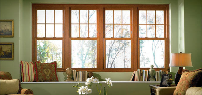 Factory Price Wood Frame Double Tempered Glazing Definition Double Hung Window