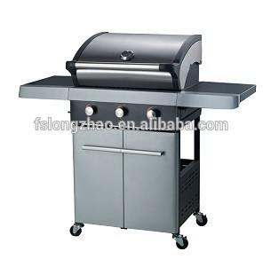 3 burners outdoor stainless steel gas bbq grill with side oven OL6602-3