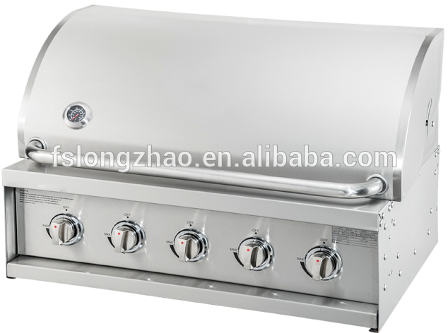 HSQ-A315S environment friendly smokeless stainless steel gas barbecue grill