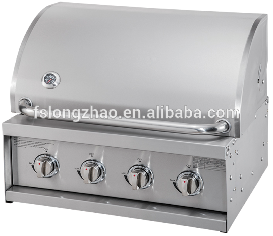 HSQ-A314S 4 Burner stainless steel big outdoor kitchen gas bbq grill
