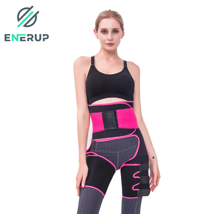 Enerup High-Waist Trainer Support Belt Wholesale Custom Oem Sweat-Absorbent Neoprene Adjustable Waist Trimmer Abdomen Leg Belt