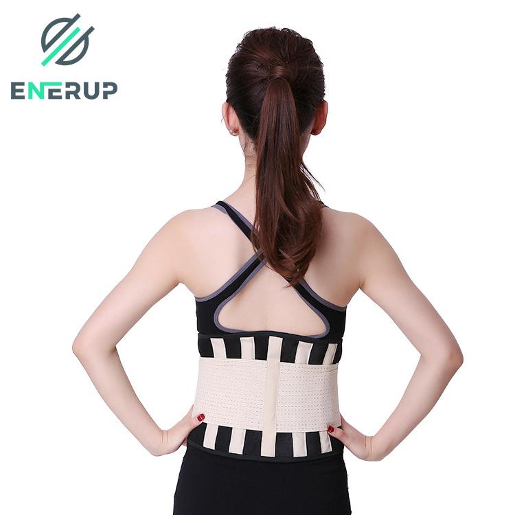 Enerup Black Pink Custom Workout Women Double Strap Shaper Seamless Steel Bone Corset Waist Trainer Back Support