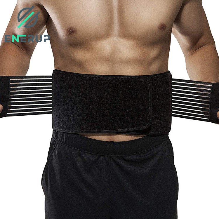 Enerup Quality Black Pink Seamless Latex Steel Bone Corset Rubber Zip Adjustable Waist Trainer For Men Logo Women
