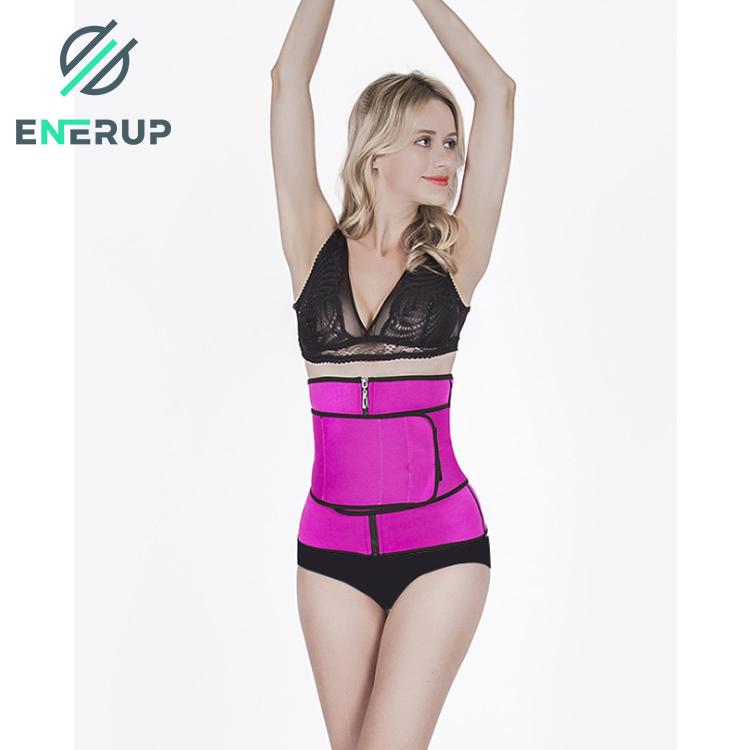 Enerup Custom Women Men Corset Back Support Waist Trimmer For Ladies Neoprene OEM Latex Waist And Thigh Trainer Belt