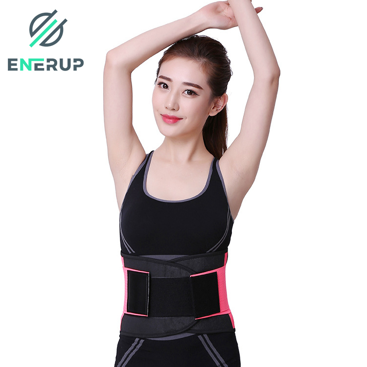 Enerup New Pain Relief Wholesale Breathable Print OEM Fitness Lumbar Support Cushion Shapers Women Vest Steel Bone Waist Trainer