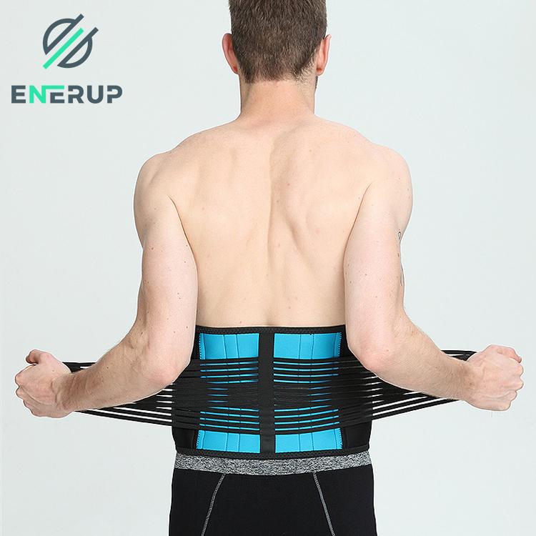 Enerup Latex Waist Back Posture Corrector Support Belt Waist Shaper Trainer Corset Trimmer Private Label