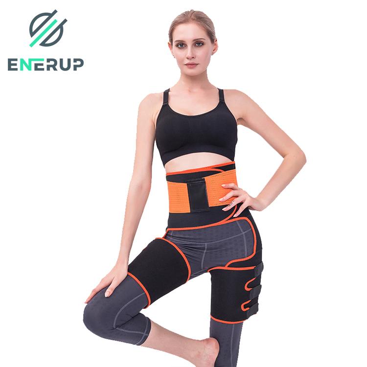 Enerup Custom Adjustable Waist Trimmer Abdomen Leg Belt Wholesale High-Waist Trainer Support Belt Sweat-Absorbent Plastic Belt
