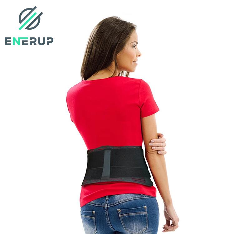 Enerup Custom Body Shaper Pain Relief Waist Trimmer Vest Lumbar Support Cushion Lower Back Brace for Men