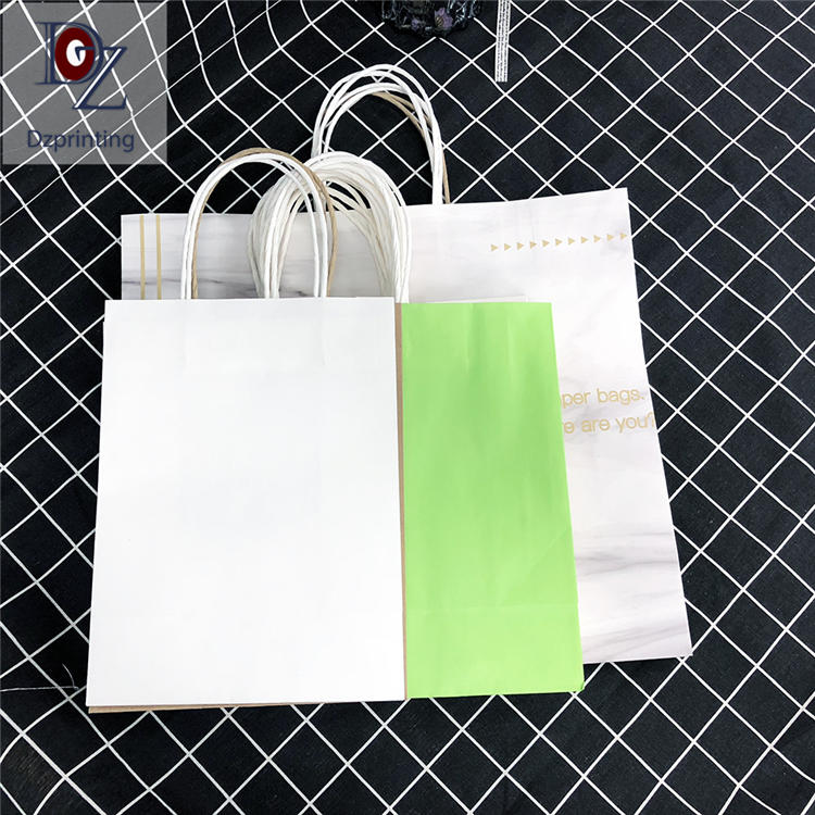 Cheap bulk custom made paper bags with logo
