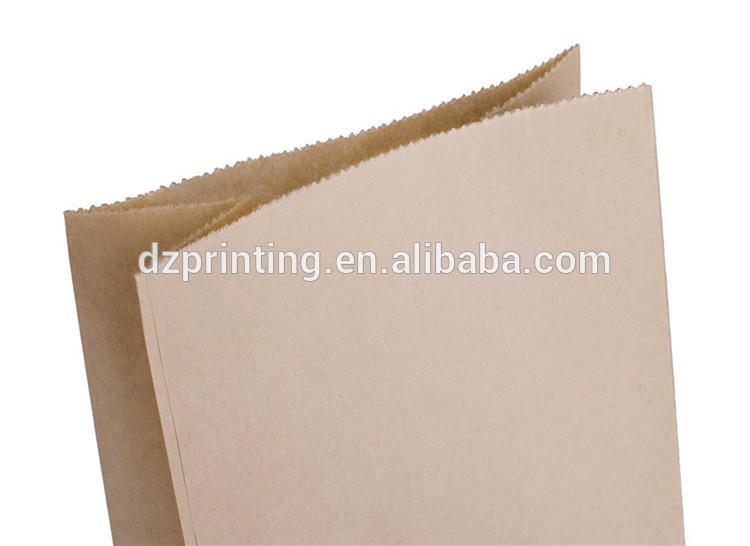 Chinese Supplier Hot Sell Brown Kraft Lunch Bread Packaging Customized Paper Bag For Promotion