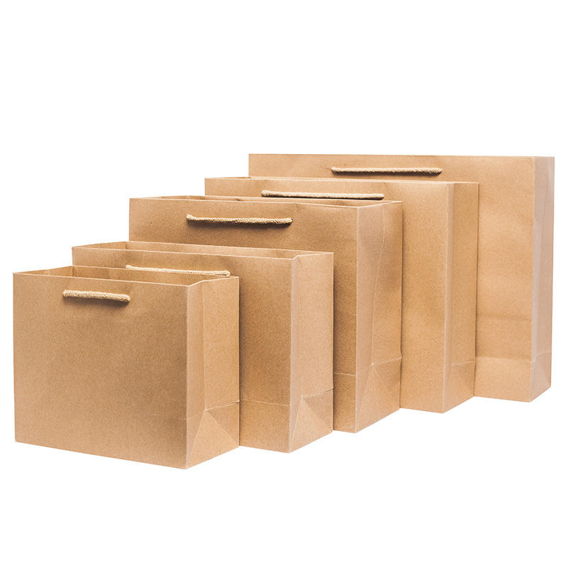 Stand up kraft paper bag tote paper envelope bag garbage packaging machine gift paper bags no handles