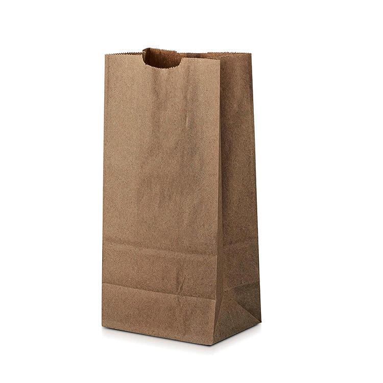 Retail plain kraft paper custom logo paper bags for pharmacy medicine packaging