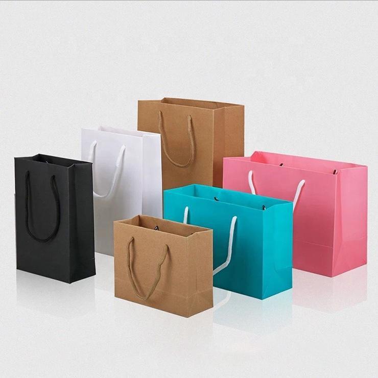Custom Retail Bulk Paper Bags Design Cheap Disposable Shopping Paper Packaging Gift Bag With Logo Print