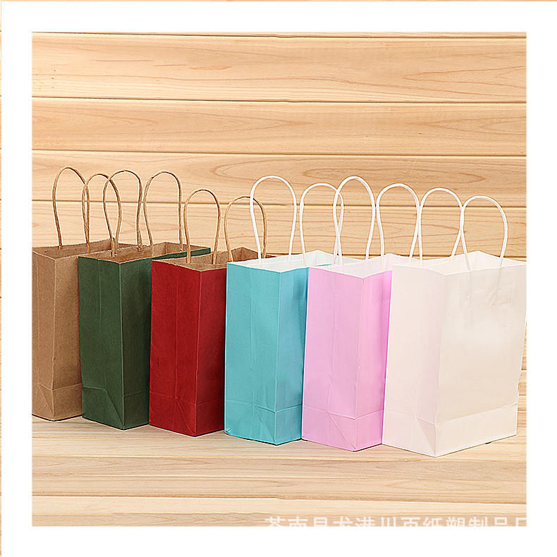 Wholesale cheap customized size colorful kraft paper bag