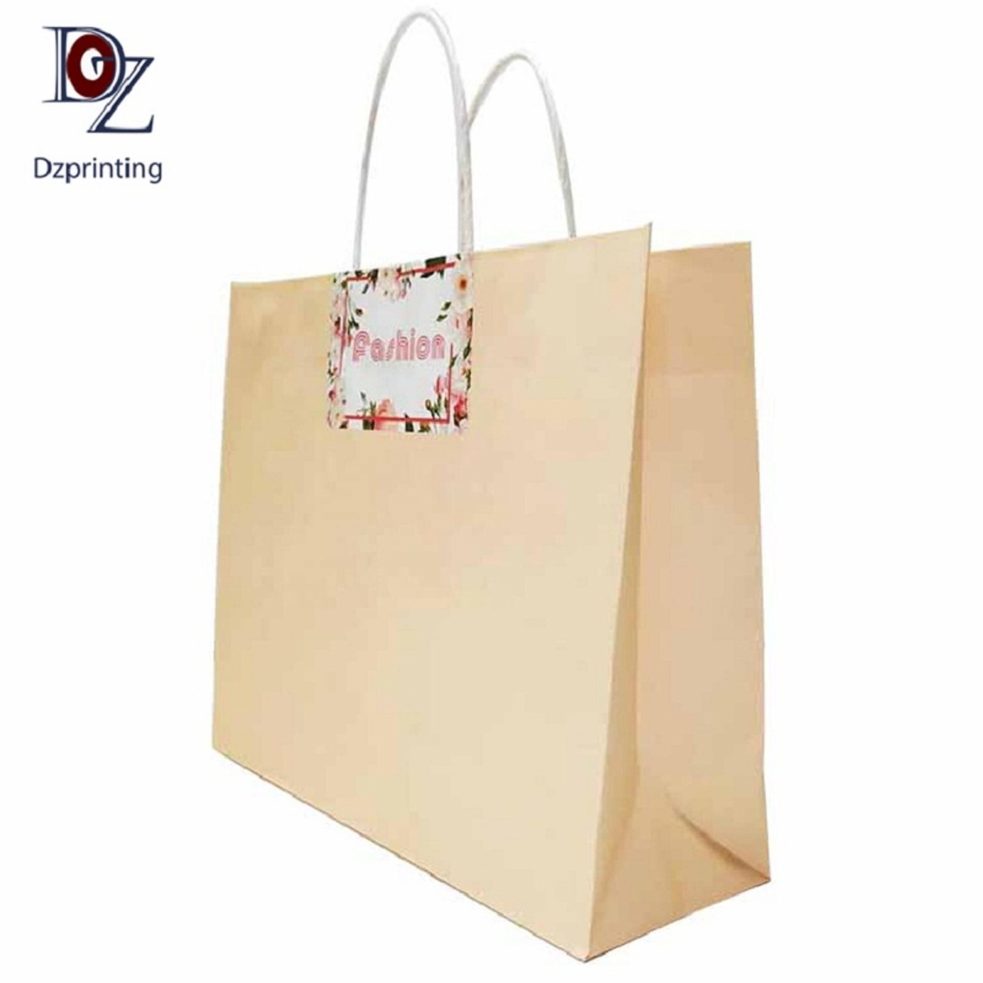 product-Bulk printed gift bag handles paper bags with your own logo-Dezheng-img-1