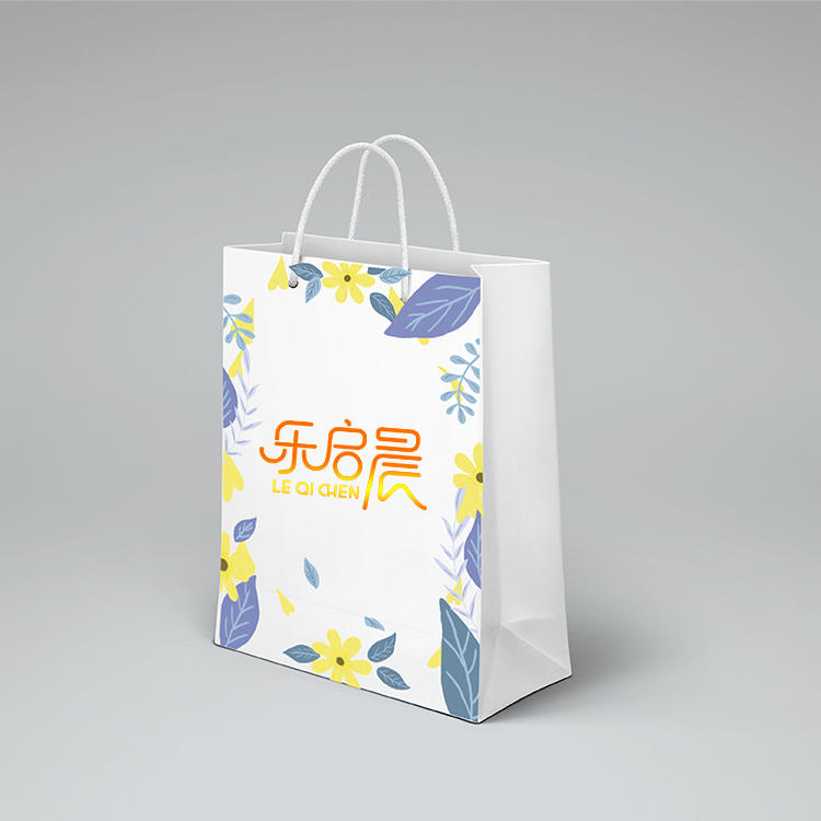Guangzhou supplier cheap white shopping paper bag gift custom paper bags with logo