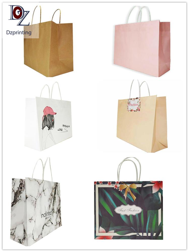 Custom bulk handle gift bag colored paper bag with logo print
