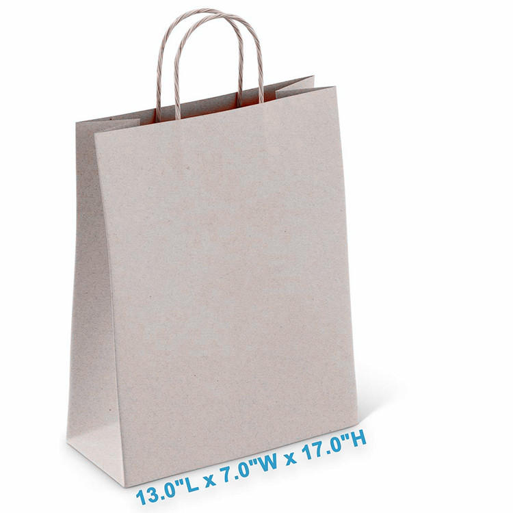 Wholesale shopping bag gift brown color kraft paper bags with handle
