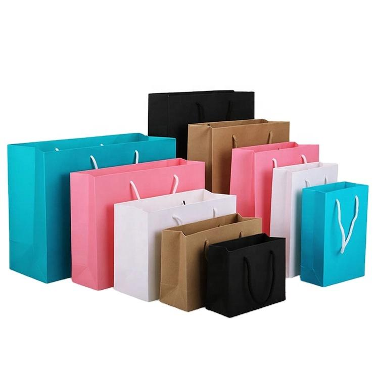 Custom High Quality 2 Bottles Wine Kraft Paper Hanging Bag Wine Packing Gift Bag