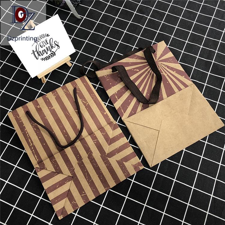 Original vintage design brown kraft paper coffee bags recycled paper bag