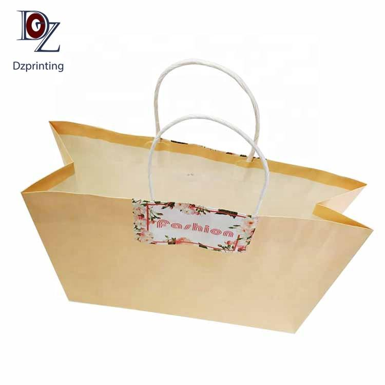 Bulk printed gift bag handles paper bags with your own logo