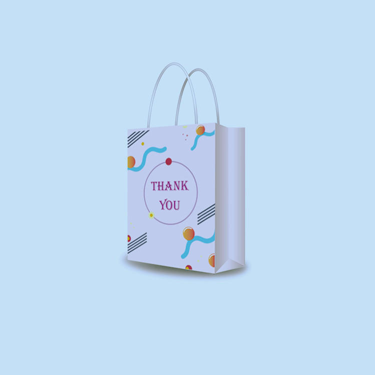 Online saling fashion 2020 pink floral thank you bags cake paper candy bag for sweet