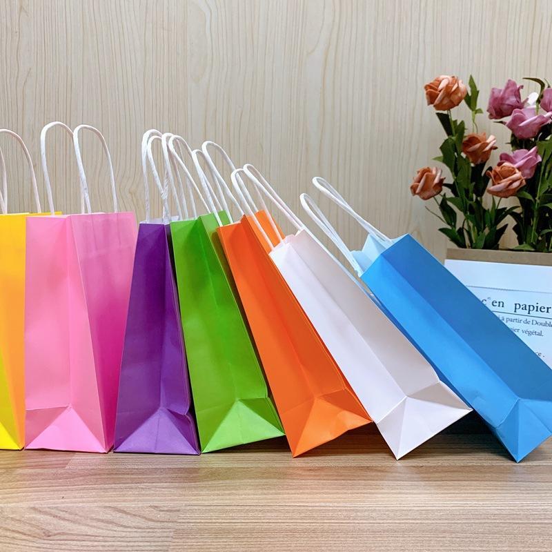 Wholesale cheap customized size colorful kraft paper bag