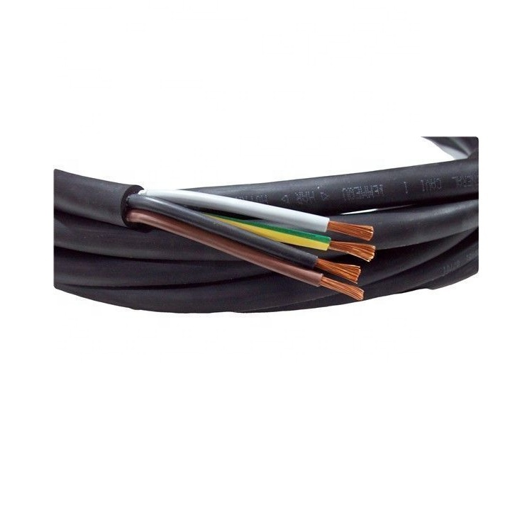 2020 rubber insulated and 5 core rubber cable h07rn f 4x075mm rubber cable