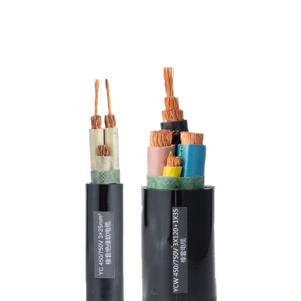 Heavy Duty Multi-cores TUVYC/H07RR-FYCW/H07RN-F Rubber Insulated Power Cable