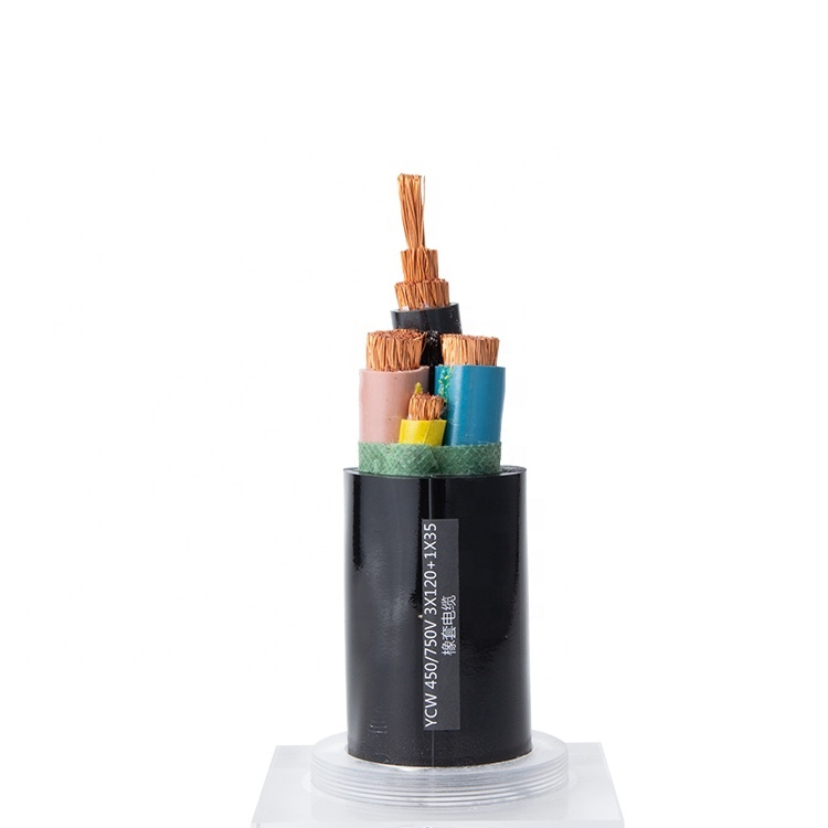 2020 Guangdong cable YC 0.6/1kV 3x120+1x35mm Rubber Insulated Welding Ground Cable for sale