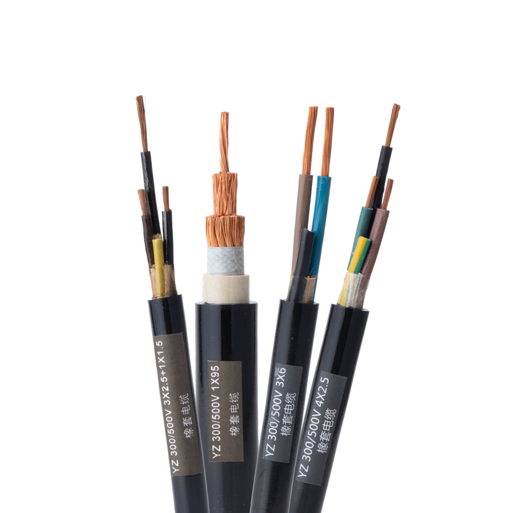 Middium Duty Multi-cores TUVYZ/H05RR-FYZW/H05RN-F Rubber Insulated Power Cable