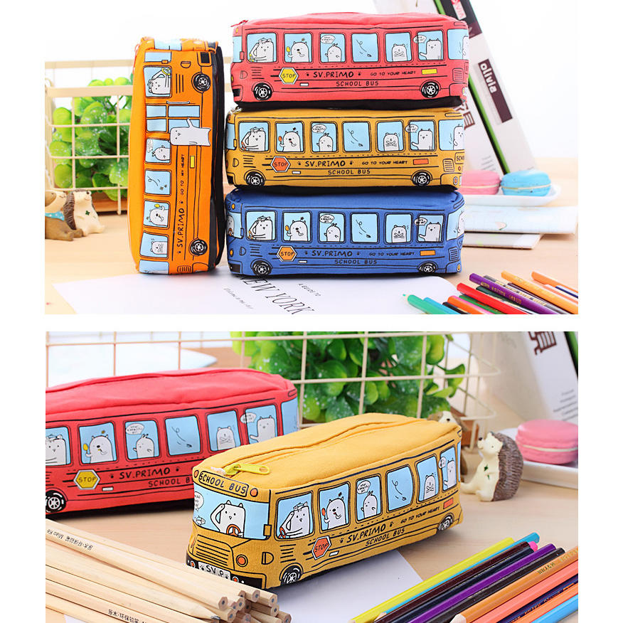 1pcs Colors Large Capacity Pencil Case Kawaii Pencilcase School Pen Case Supplies Pencil Bag School Box Pencils Pouch Stationery