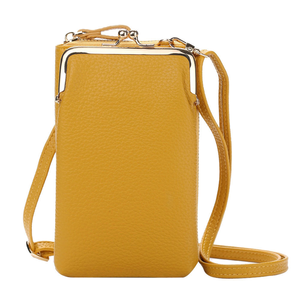 designer handbags Women Fashion Solid Wallet Large Capacity Mobile Phone Bag Card Slot Adjustable Shoulder Strap bag