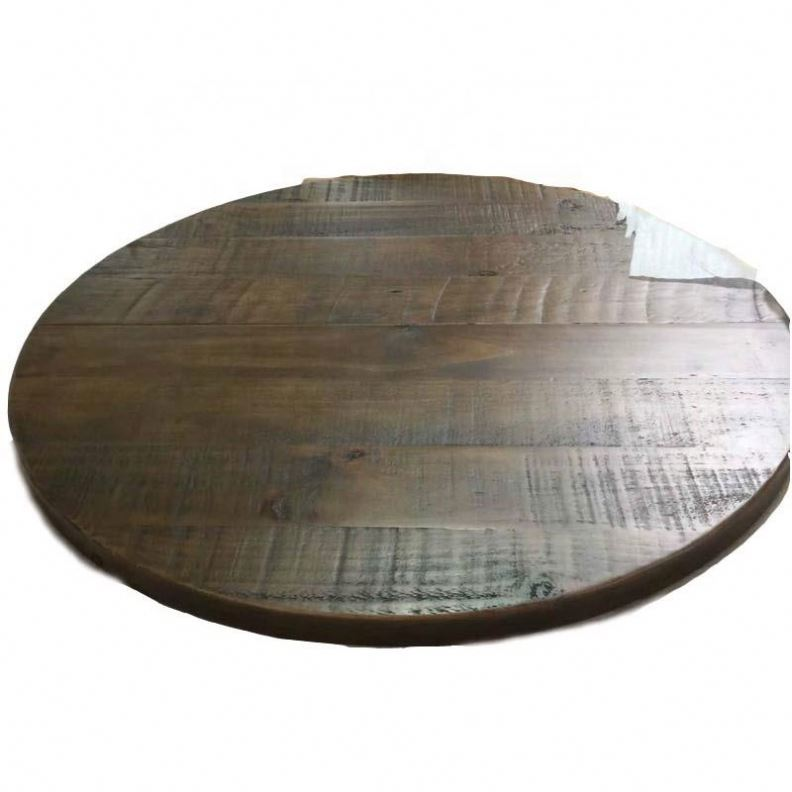 Round solid wood table top