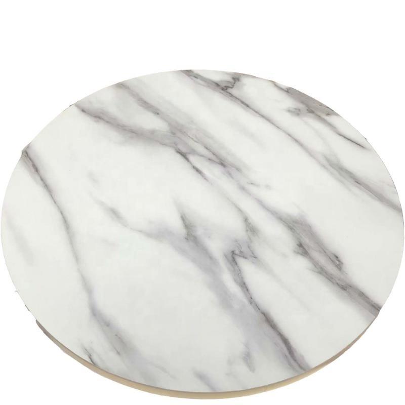 Carrara custom cut marble table top for restaurant