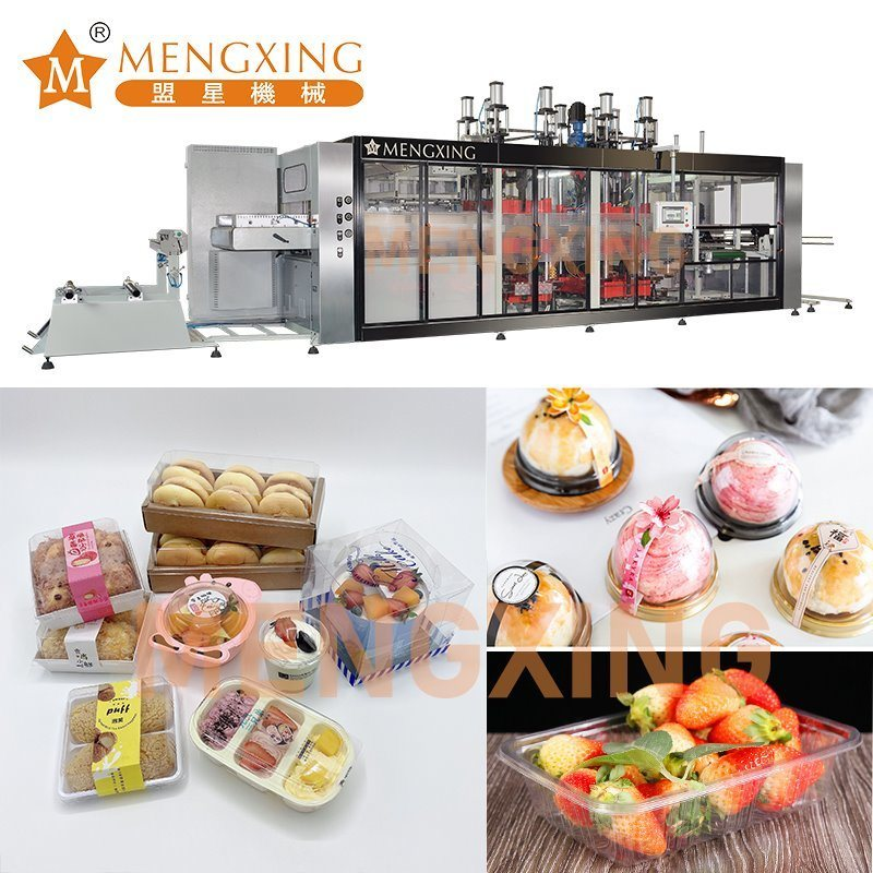 OPS Sushi Lid Cover Forming Machine Fully Automatic Thermoforming Machine Plastic Processing Machine PP Food Container Vacuum Forming Machine