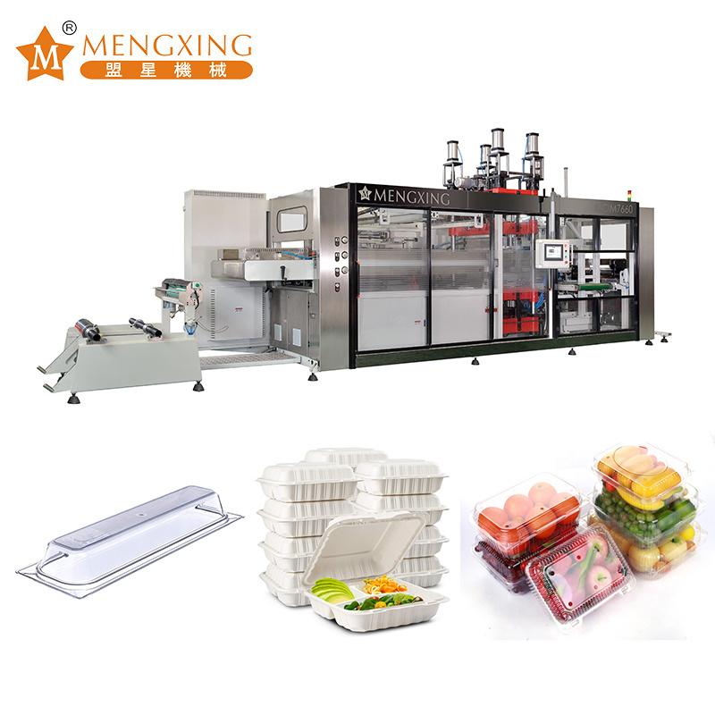 Plastic Thermoforming Machine Air Pressure Vacuum Pet PP PS Container Bowl Plate Lid Plastic 2 Stations Thermoforming Machine