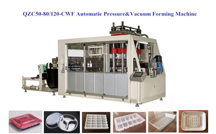 Plastic Boxes Thermoforming Machine for Pet Material (QZC50-80/120-CWF)
