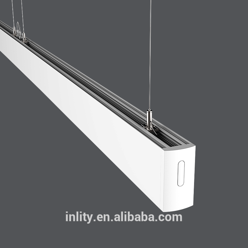 ip20 24+12w led up and down linear lightCustom seamless stitching light PC material fixture linear strip lighting