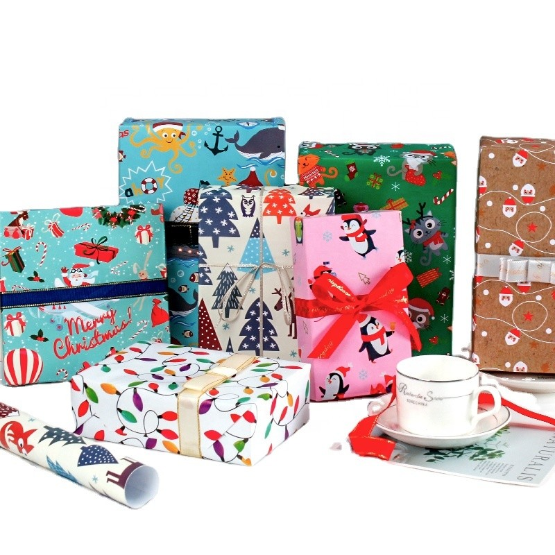 Custom Printed Wrapping Paper Roll, Gift Wrapping Paper Manufacturer